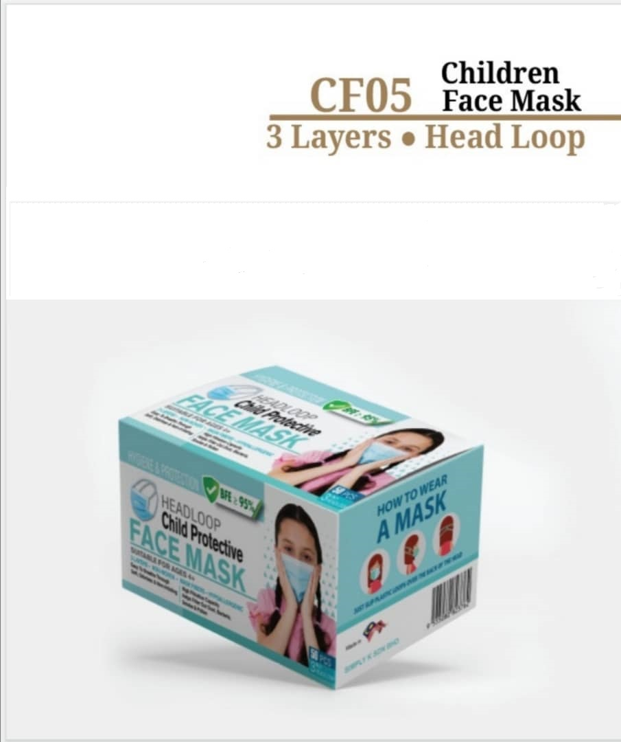 FACE MASK 3 PLY CHILD CF05 BLUE